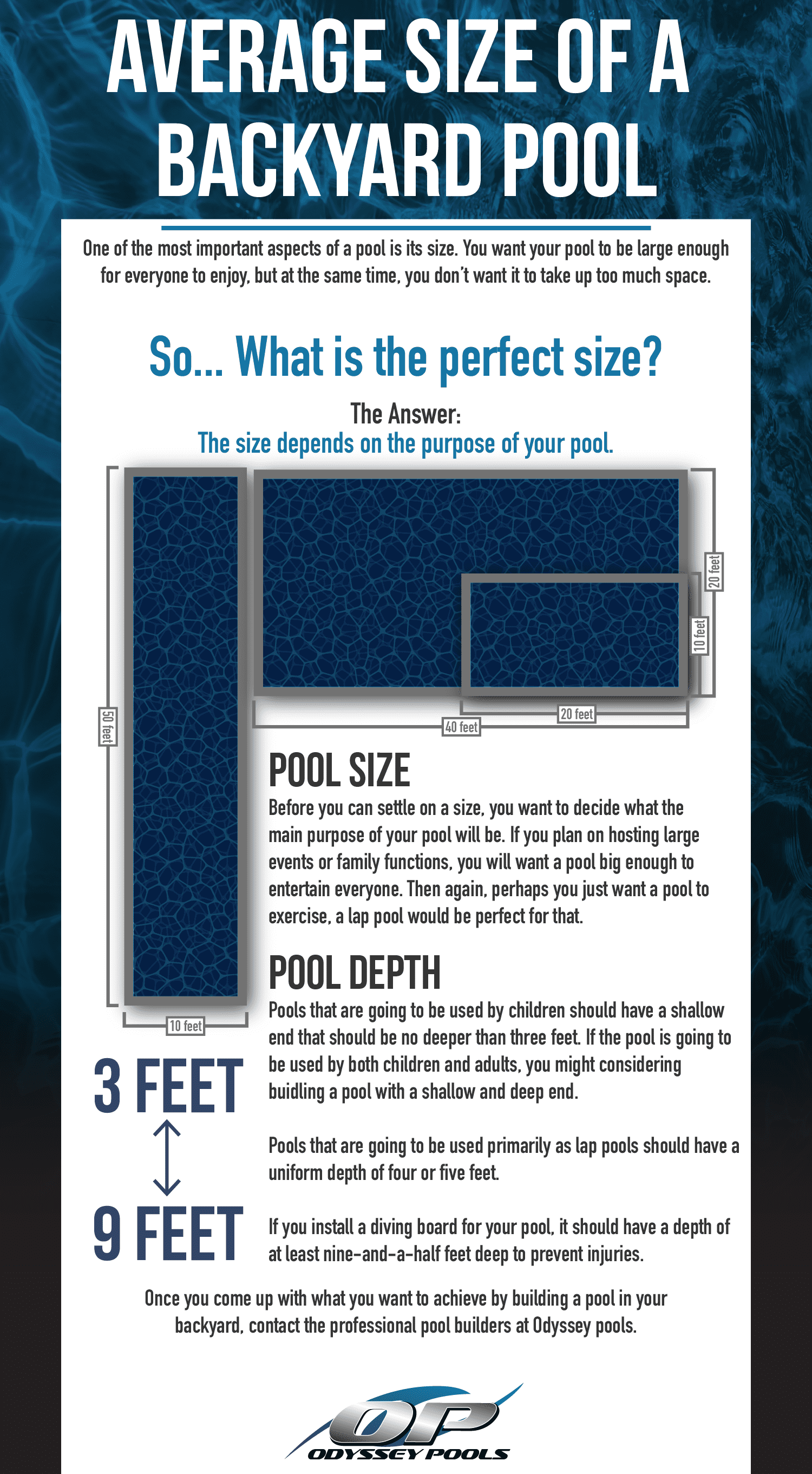 The Average Size For A Backyard Swimming Pool Odyssey Pools Utah